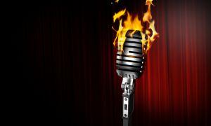 burning microphone