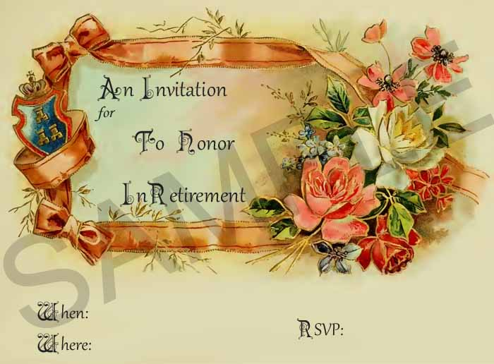 Farewell retirement invitations retirement party invitation stopboris Choice Image