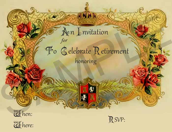 farewell retirement invitations