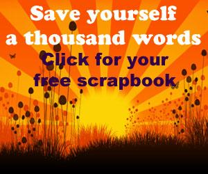 free farewell scrapbook template!
