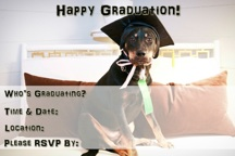 Puppy Graduation Party Invitation