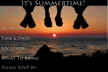 Summertime Party Invitation