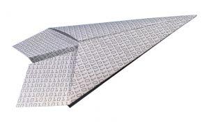 binary paper plane