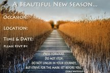 New Season Party Invitation